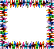 Crayons frame Royalty Free Stock Image