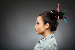 Crayons geisha Stock Images