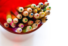Crayons in glass Stock Image