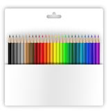 Crayons in holder. Crayons holder on white background, path included, copy-space Stock Photos