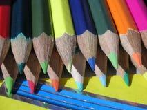 Crayons i sunen Fotografering för Bildbyråer