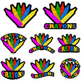 Crayons icons Royalty Free Stock Photos