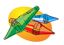 Crayons illustration Stock Photo