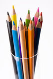 Crayons In A Glass Stock Image
