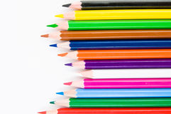 Crayons isolated. On white background Stock Photography
