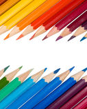 Crayons isolated Stock Photos