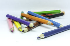 Crayons. Isolated crayons, equipment of art Royalty Free Stock Photos