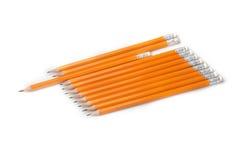 crayons Jaune-enduits de graphite d'isolement Image libre de droits