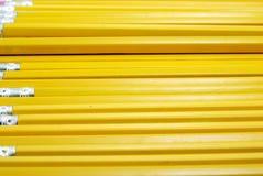 Crayons jaunes Photo stock