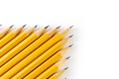Crayons jaunes Images stock