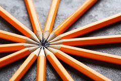 Crayons jaunes Photo libre de droits