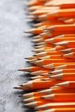 Crayons jaunes Photos libres de droits