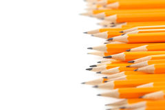Crayons jaunes Image libre de droits
