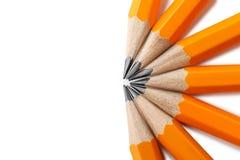 Crayons jaunes Photos stock