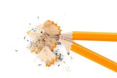 Crayons jaunes Photographie stock libre de droits