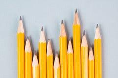 Crayons jaunes Photographie stock