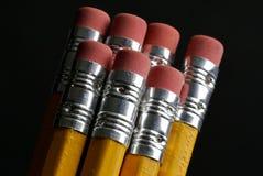 Crayons jaunes d'écriture Images libres de droits