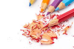 crayons kulöra blyertspennor kulöra blyertspennor Royaltyfri Fotografi