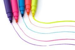 Crayons lecteurs 2 de barre de mise en valeur Photographie stock libre de droits