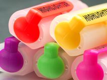Crayons lecteurs Images stock