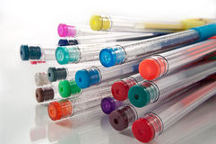 Crayons lecteurs assortis de gel Image libre de droits