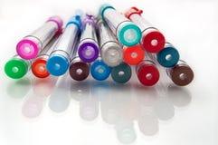 Crayons lecteurs assortis de gel Images libres de droits