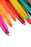 Crayons lecteurs au néon de diverses couleurs image libre de droits
