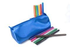 Crayons lecteurs colorés Images stock