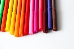 Crayons lecteurs colorés Images libres de droits