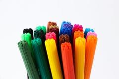 Crayons lecteurs colorés Photos stock