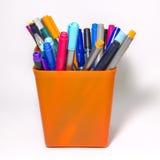 Crayons lecteurs colorés photographie stock libre de droits