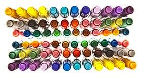 crayons lecteurs colorés Image stock