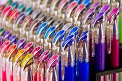 Crayons lecteurs colorés de gel Photo libre de droits