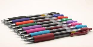 Crayons lecteurs colorés multi de gel Images libres de droits