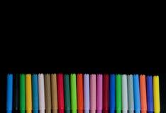 Crayons lecteurs d'école Photographie stock