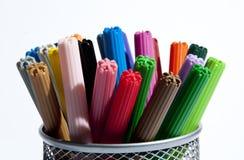 Crayons lecteurs d'école Photo stock