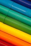 Crayons lecteurs d'arc-en-ciel Photographie stock