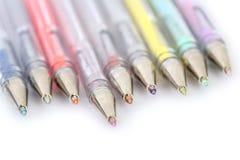 Crayons lecteurs d'isolement Image stock