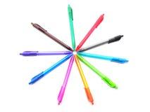 Crayons lecteurs d'isolement sur le fond blanc Image libre de droits
