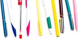 Crayons lecteurs d'isolement sur le fond blanc Images stock