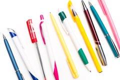 Crayons lecteurs d'isolement sur le fond blanc Photos libres de droits