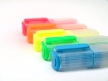 Crayons lecteurs de barre de mise en valeur (Textmarker) Image libre de droits