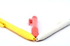 Crayons lecteurs de bille Photographie stock