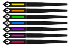 Crayons lecteurs de couleur Photo stock