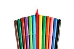 Crayons lecteurs de couleur Image libre de droits