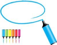 Crayons lecteurs de repère Photos stock