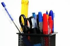 Crayons lecteurs et sissor Photo stock