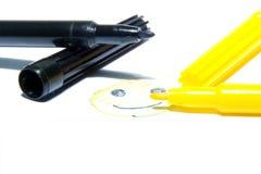 Crayons lecteurs feutres de couleur Photographie stock libre de droits