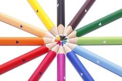 Crayons lecteurs secs multicolores de couleur Photos stock
