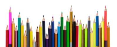 Crayons lumineux de couleur, concept d'art image libre de droits